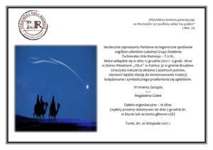 Zaproszenie Na Kolację Wigilijną Tur Turkowska Unia Rozwoju